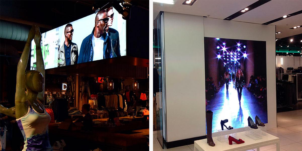 pantallas led en tiendas